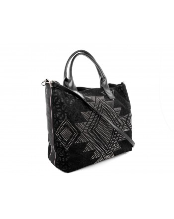 PINKO - BORGHESE Shopping bag - Black