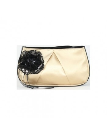 PINKO - Satin Pouch FASOLARO - Gold/Black