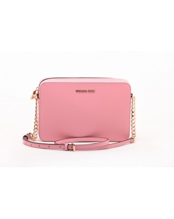 MICHAEL BY MICHAEL KORS - Saffiano leather JET SET CROSSBODY Bag  - Pale Pink