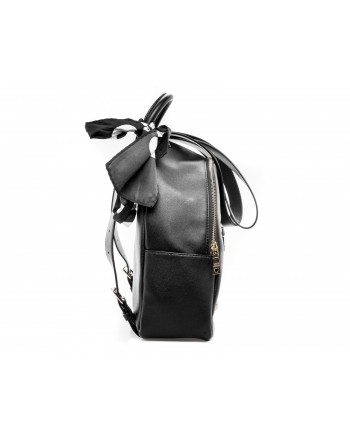 LOVE MOSCHINO - Ecoleather Backpack with Logo front Pocket - Black
