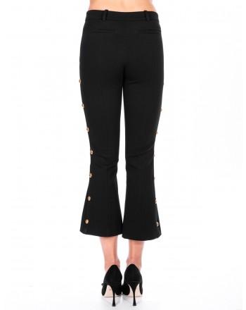 PINKO -  MEGAFONO trouser in fabric stitch  - Black