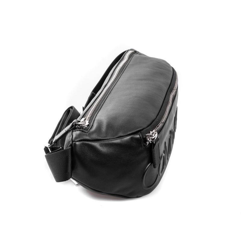 CALVIN KLEIN - Fanny Pack with Logo Pocket - Black