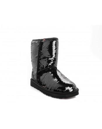 UGG - CLASSIC SHORT SEQUIN boots - Black