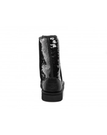 UGG - Stivali CLASSIC SHORT SEQUIN - Nero