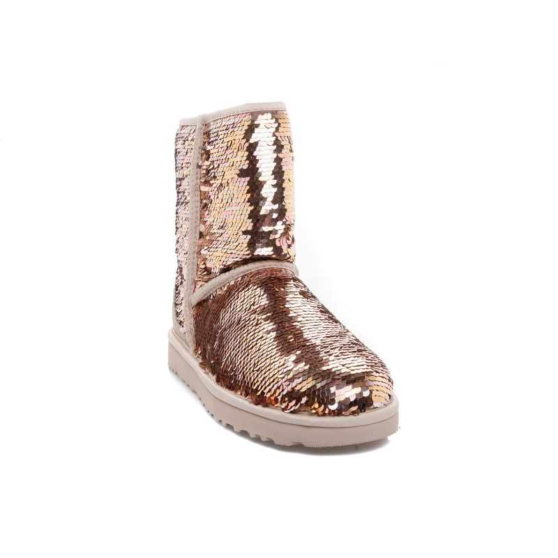 UGG - CLASSIC SHORT SEQUIN boots - Gold combo