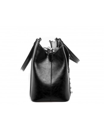 PINKO - TOP BATCH Bag with pearl studs - Black