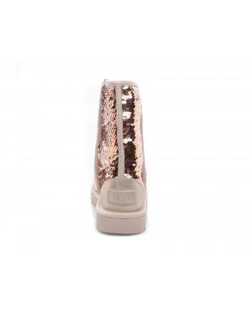 UGG - Stivali CLASSIC SHORT SEQUIN - Gold combo