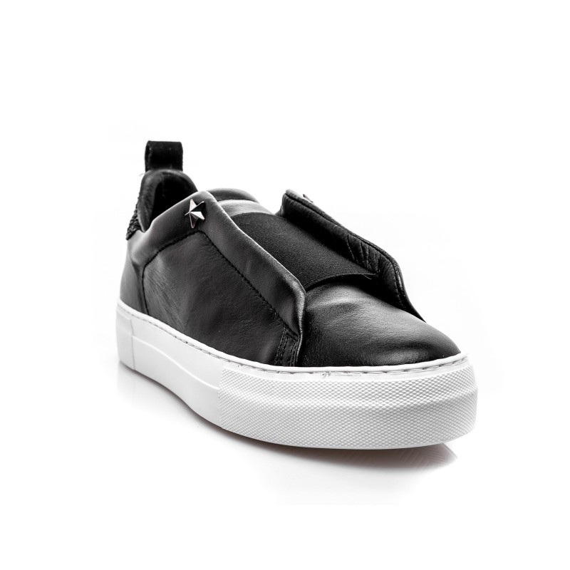 LES COPAINS - Sneakers in pelle slip-on - Nero