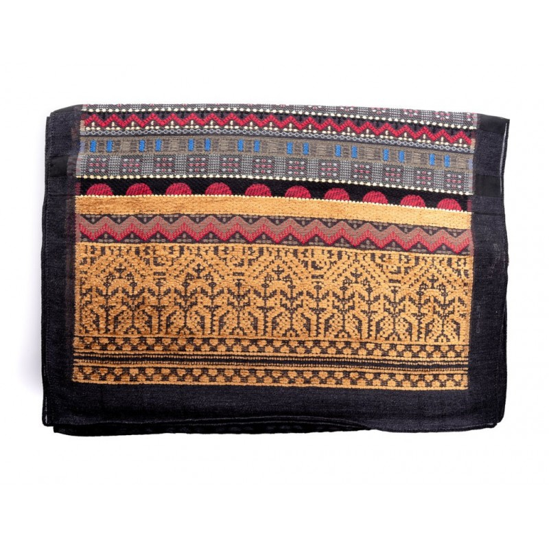 ETRO - Jacquard Wool scarf - Brown/Black