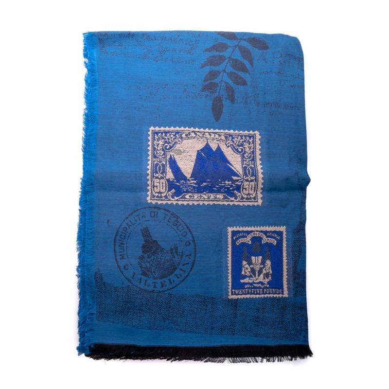 ETRO - Mixed silk scarf - Blue