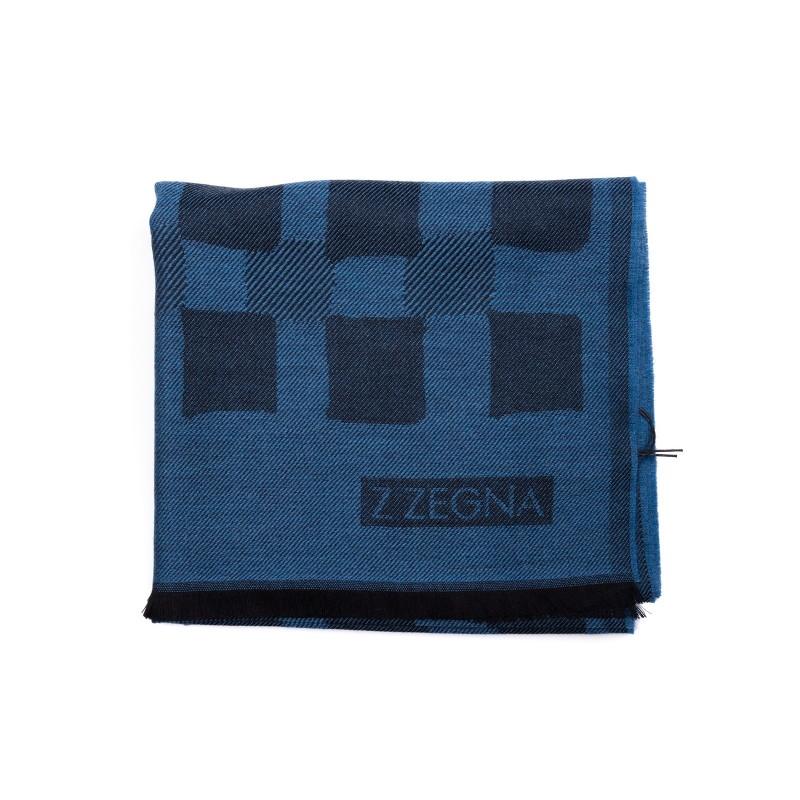 ERMENEGILDO ZEGNA - Wool Scarf  - Blue