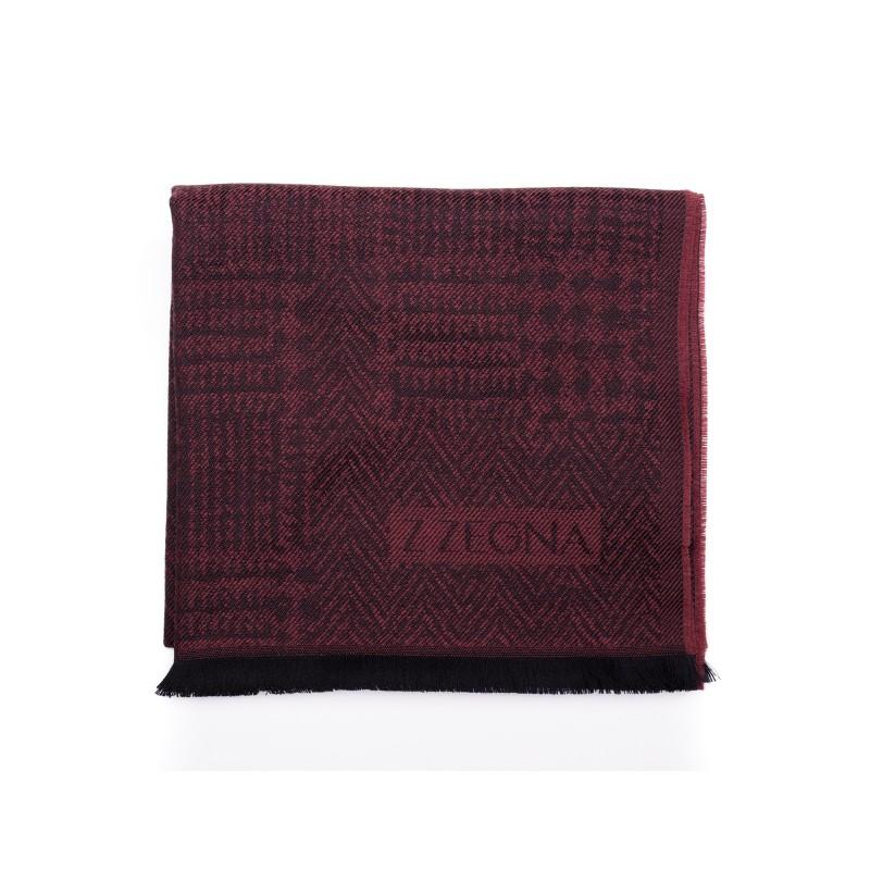 ERMENEGILDO ZEGNA -Wool Scarf - BORDEAUX