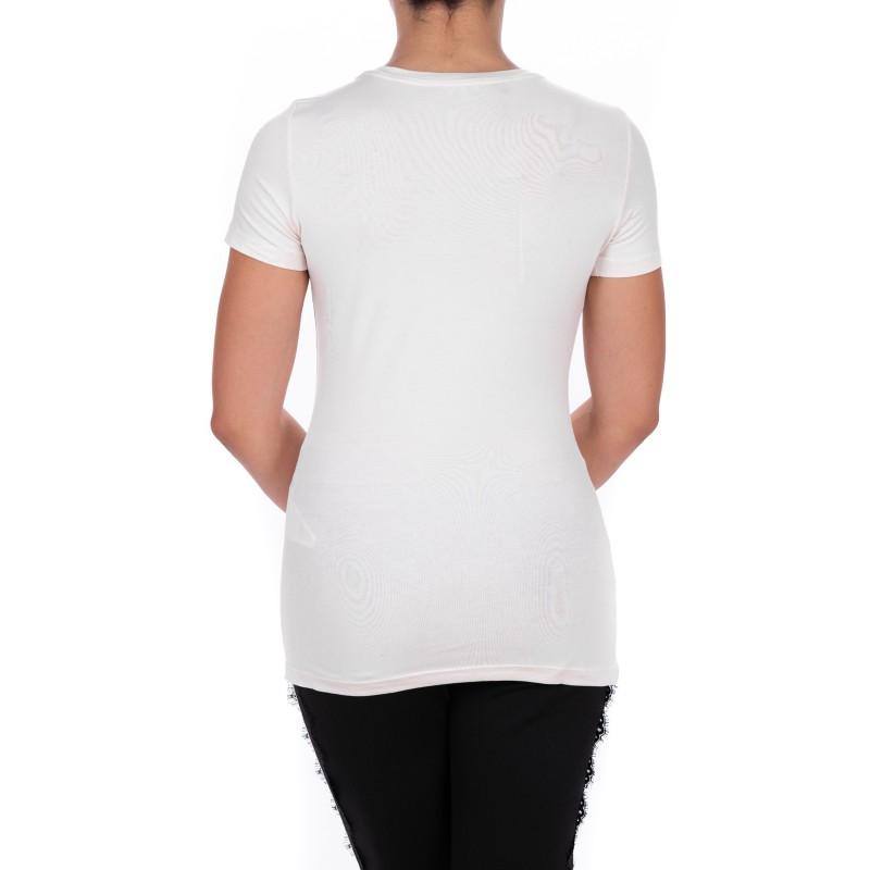 LIU-JO - T-Shirt BASIC in cotone - Bianco