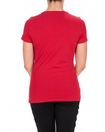LIU-JO - BASIC Cotton T-Shirt - Chili Pepper
