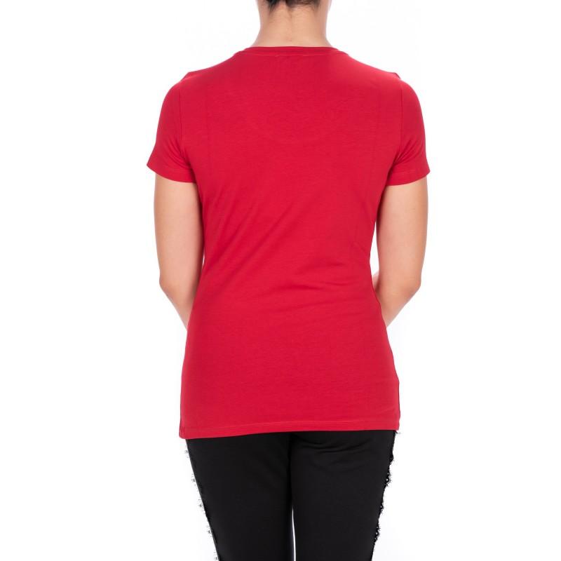 LIU-JO - BASIC Cotton T-Shirt - Chili Pepper