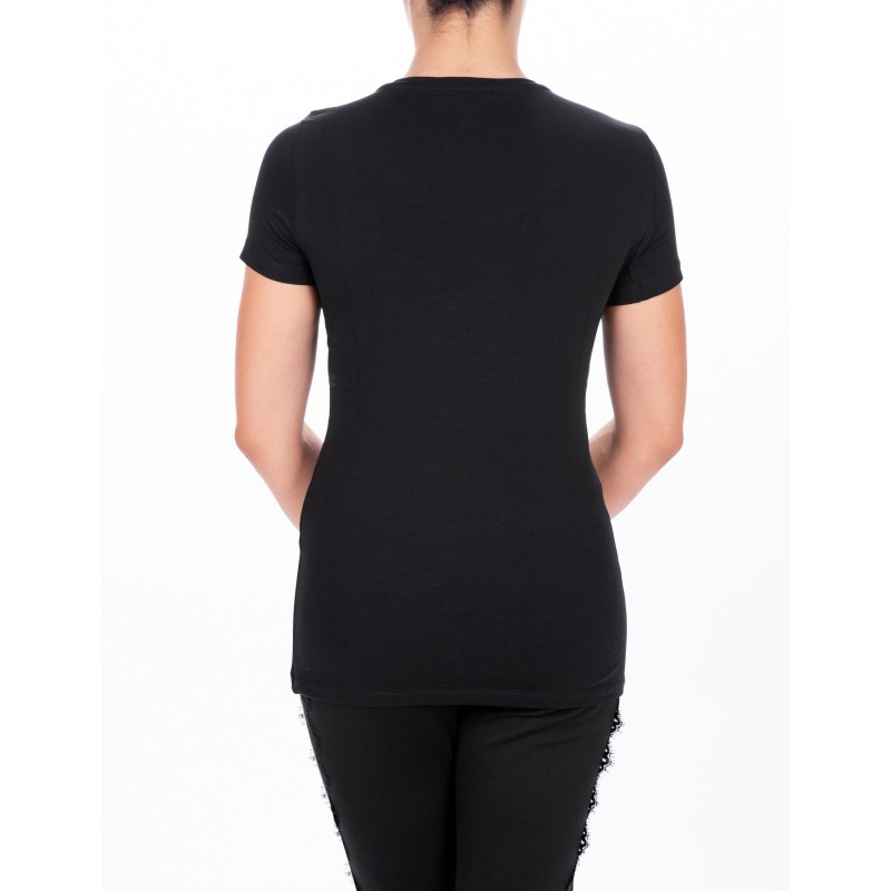 LIU-JO - T-Shirt BASIC in cotone - Nero
