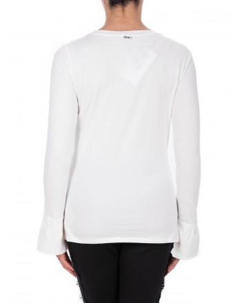 LIU- JO - T-Shirt ZAIRA in cotone - Bianco