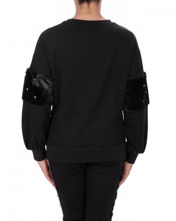 LIU-JO - BRIGITTA Sweatshirt in Cotton - Black