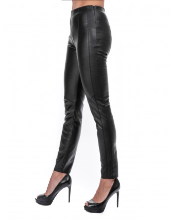 PINKO -  SPAZZOLA Leggings in eco-leather - Black