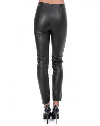 PINKO -  SPAZZOLA Leggings in eco-leather - Black