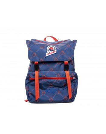 PINKO - JOLLY IN LOVE backpack in canvas - Blue/Red