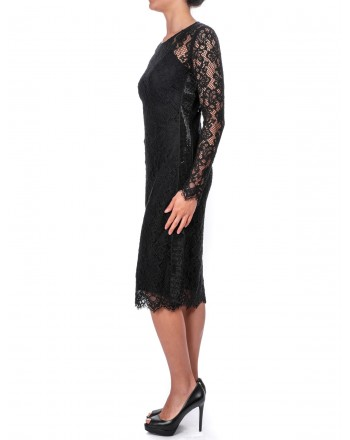 PINKO - Dress FAZIO in Lace - Black