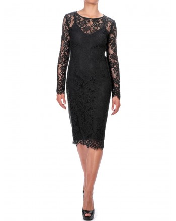 PINKO - Dress FAZIO in Lace - Black