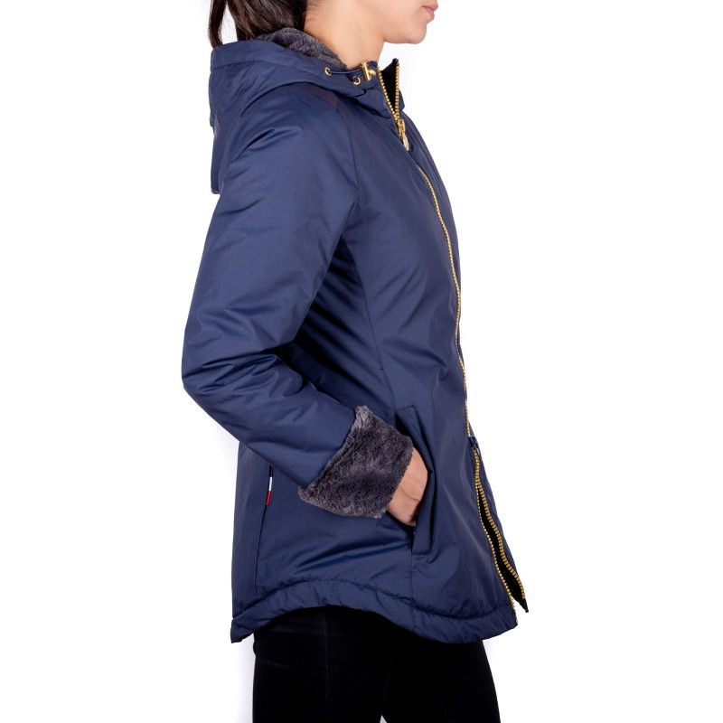 INVICTA - Tech Fabric Quilted Down Jacket ORSETTO  - Dark Blue/ Charcoal Grey