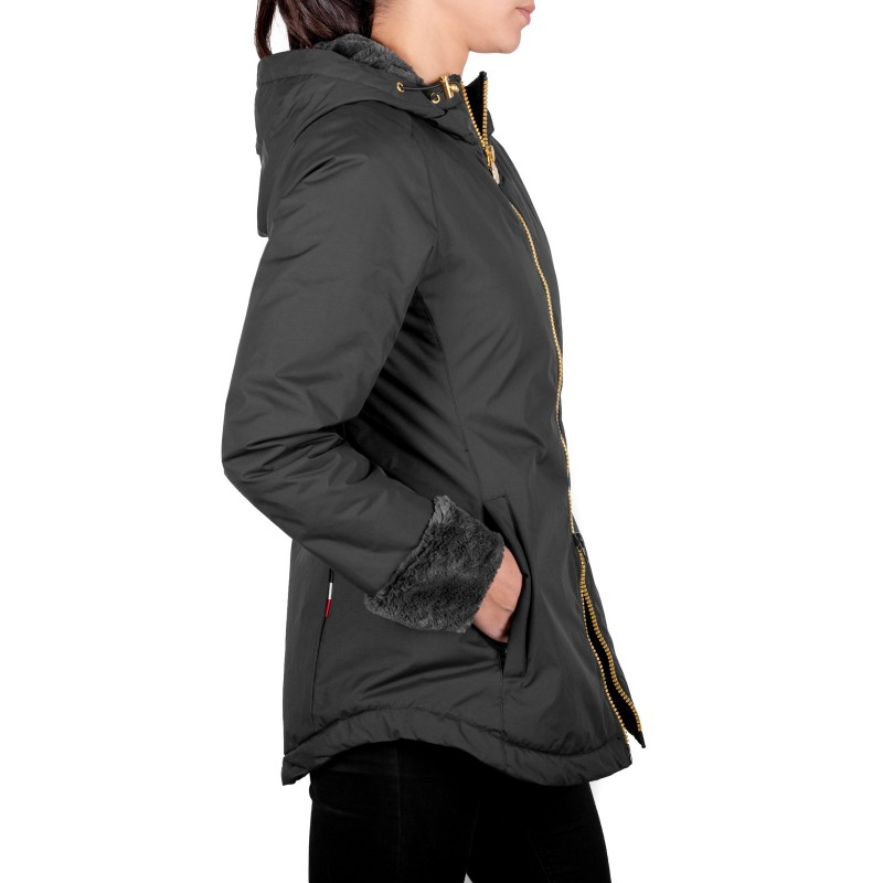 INVICTA - Tech Fabric Quilted Down Jacket ORSETTO -Black/Charcoal Grey
