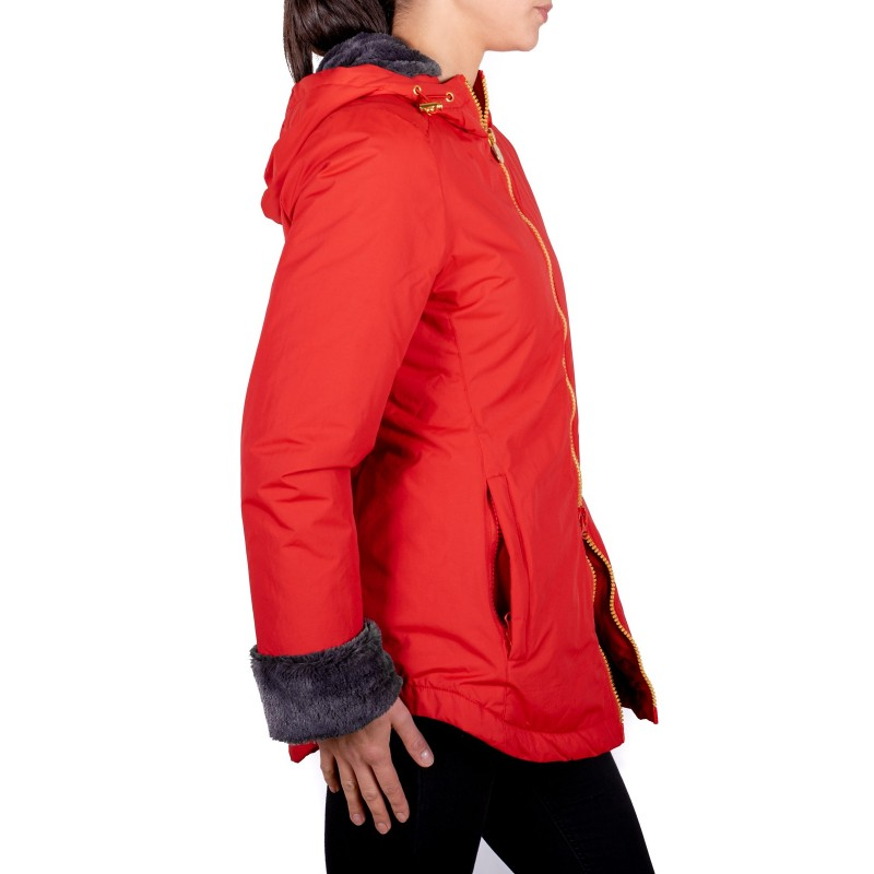 NVICTA - Tech Fabric Quilted Down Jacket ORSETTO  - Red/ Charcoal Grey