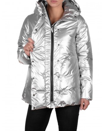 INVICTA - Trapezoid Styled Jacket with Hood - Silver