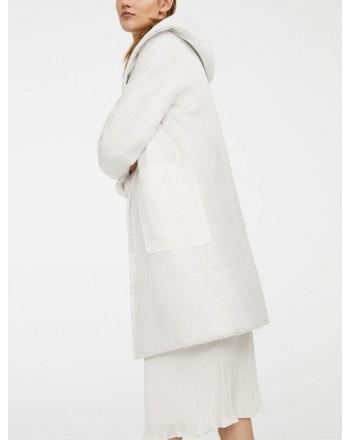 MAX MARA - Cappotto in Organza e Seta PAROLA Collezione ANIMA COAT - Bianco