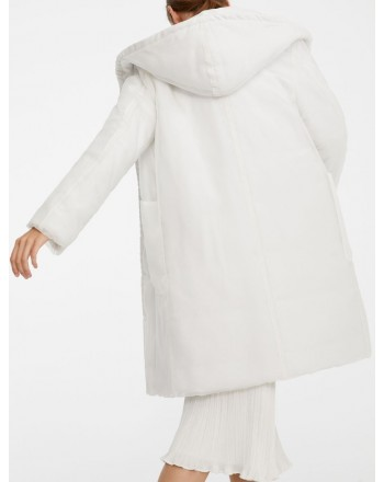 MAX MARA - Silk and Organza Coat PAROLA from ANIMA COAT Collection - White
