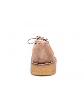 TOD'S - Suede mocassins with merinos wool details - Beige