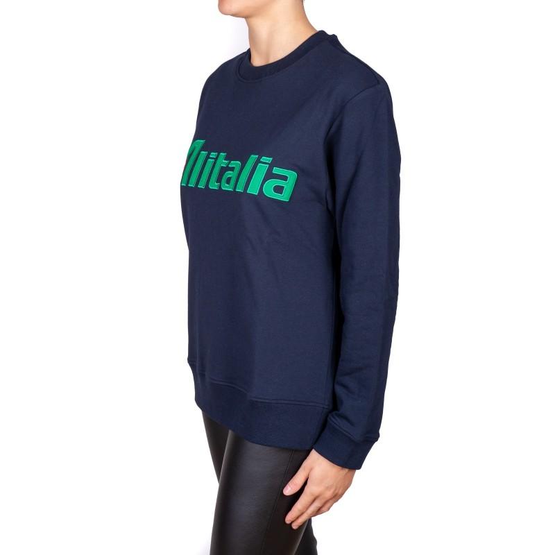 ALBERTA FERRETTI - ALITALIA sweatshirt - Dark blue