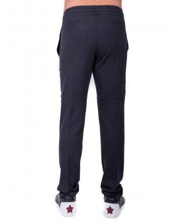ERMENEGILDO ZEGNA -Two Pockets Fleece Trousers- Blue