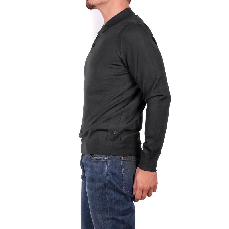 MICHAEL di MICHAEL KORS - Polo in lana Merino - Carbone