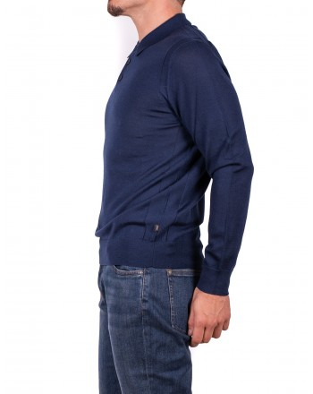 MICHAEL di MICHAEL KORS - Merino Wool Polo - Blue