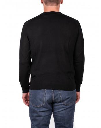 MICHAEL di MICHAEL KORS - Merino Wool crewneck Jersey - Black
