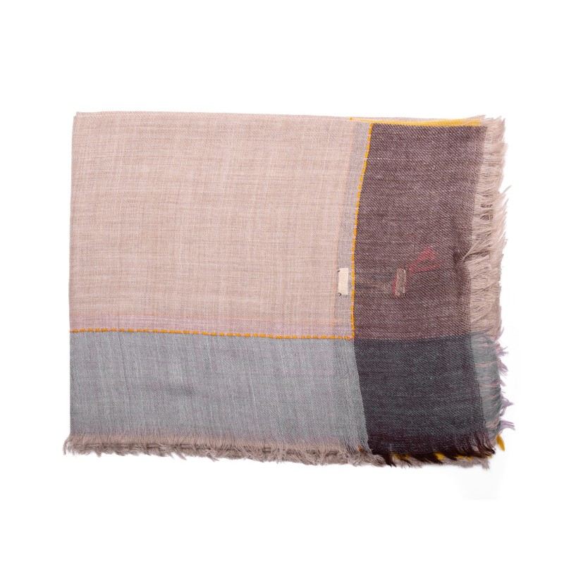 CAMERUCCI - LARICE stole in wool - Sand
