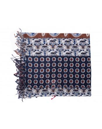 CAMERUCCI - MAIOLICA stole in wool - Blue