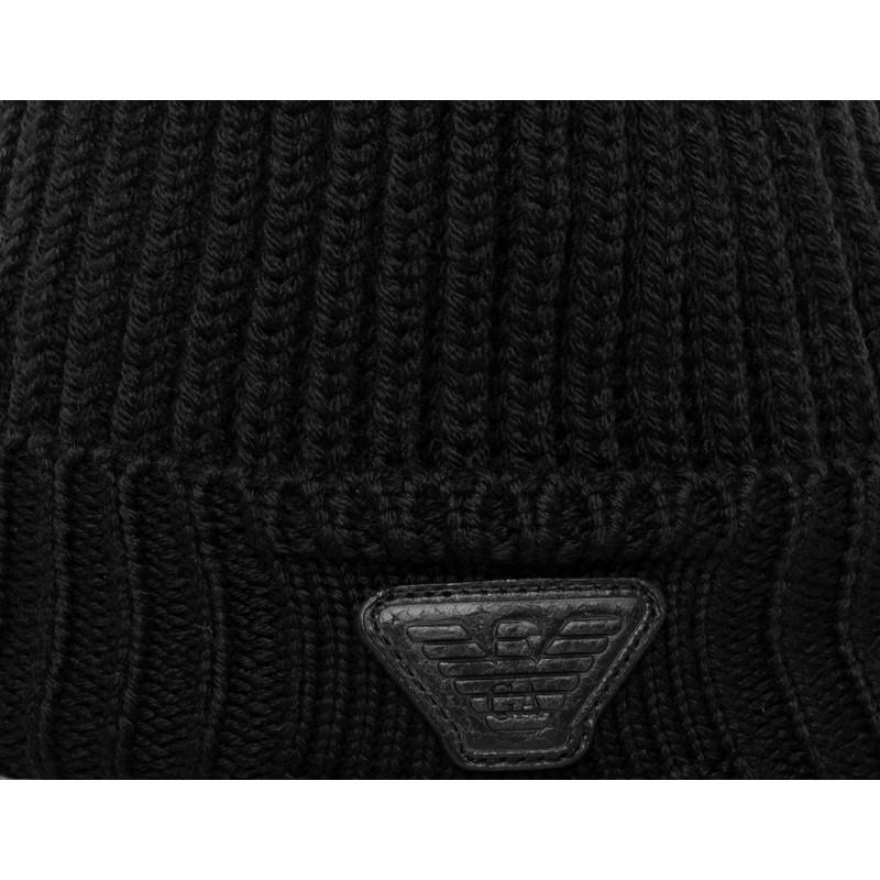 EMPORIO ARMANI - Cappello in lana - Nero