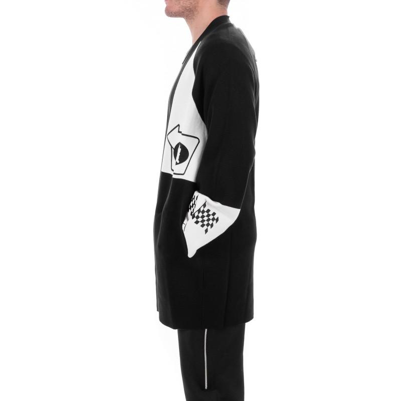 MCQ BY ALEXANDER MCQUEEN - Cotton Cardigan - Black/White