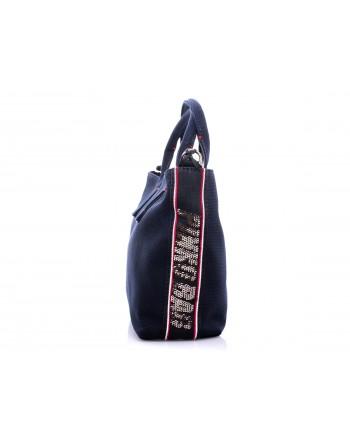 PINKO -  Canvas Shopping Bag COLIMA - Blue