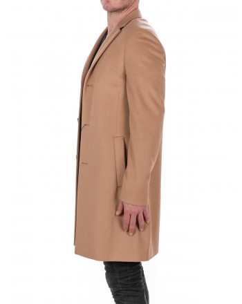 CALVIN KLEIN - Wool and Cashmere Coat - Tannin