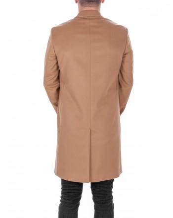 CALVIN KLEIN - Wool and Cashmere Coat - Tannin