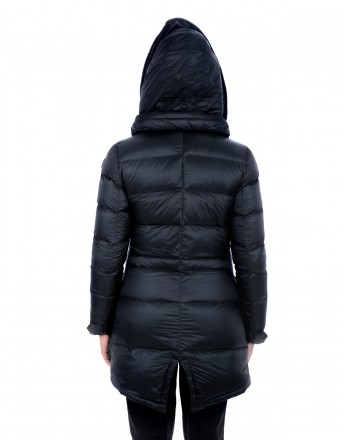 INVICTA - Quilted down jacket with Hood - Dark Blue