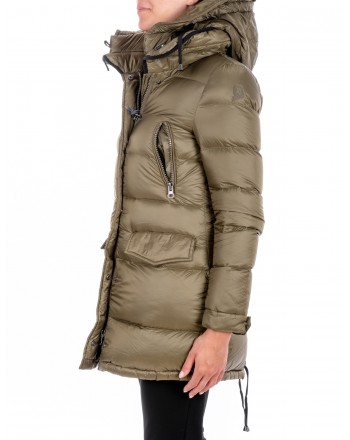 INVICTA - Quilted Down jacket with Hood - Green/ Black