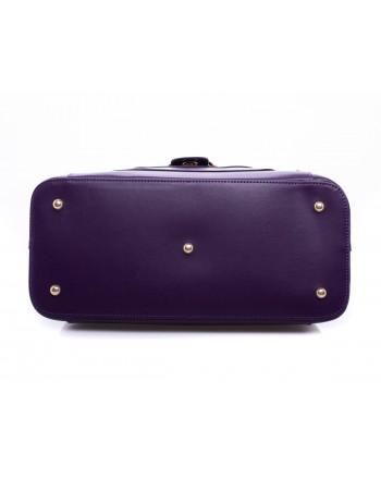 PINKO - Calf and Silk Bag AVOSSA   Dark Purple
