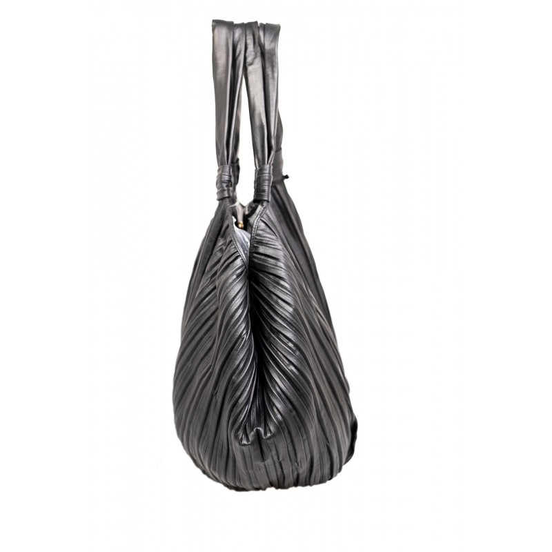 MAX MARA - FRANCES Leather Bag with double Straps - Black